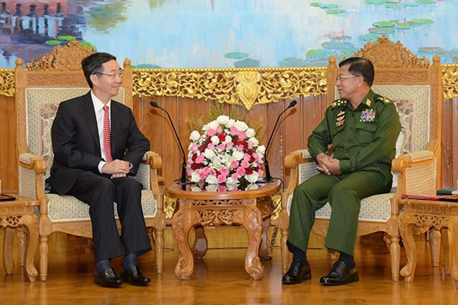 မြန်မာနိုင်ငံကို တိတ်တဆိတ် ရောက်ရှိခဲ့တဲ့ တရုတ် အထူးသံတမန် အာဏာသိမ်းခေါင်းဆောင်နဲ့ ဘာတွေဆွေးနွေးခဲ့လဲ