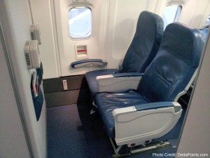 Delta domestic 767-300 exit row seat row 25