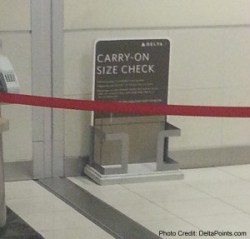 delta size check for carry-on almost never ever used delta points blog
