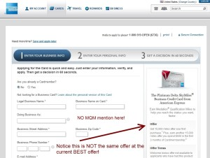 email is not the same as the link offer from amex