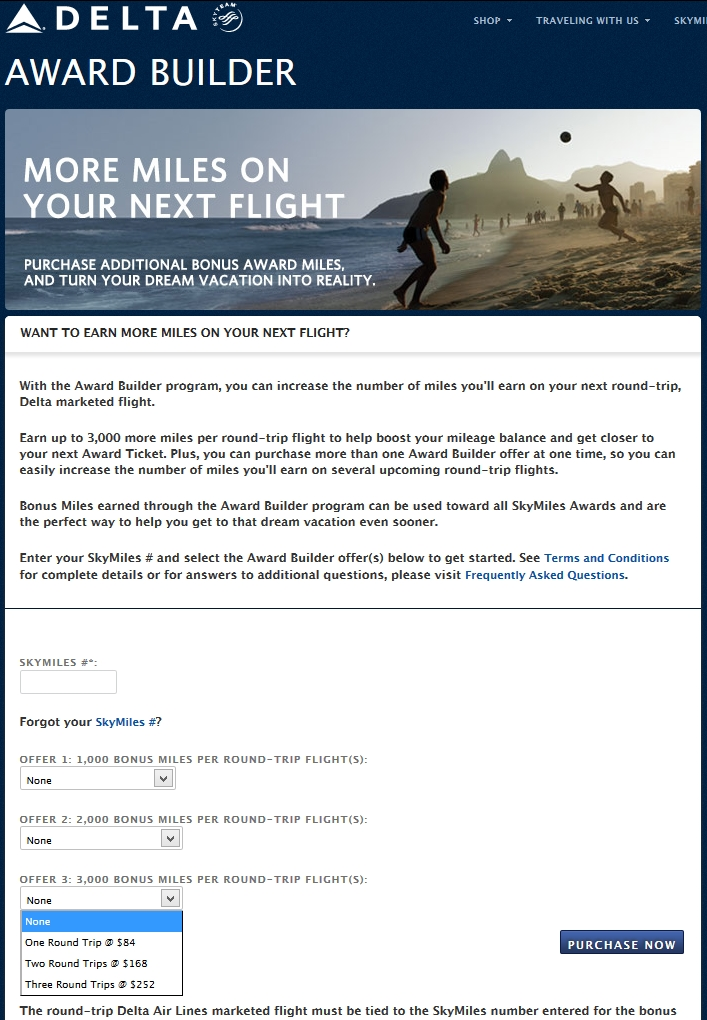 Rookie Wednesday: Buying, gifting or transferring Delta Skymiles ...