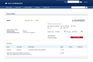 15000 targeted usair world mastercard points posted delta points blog
