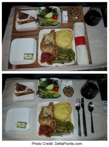 chicken dinner delta flight atl-sfo delta points blog