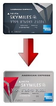 downgrade my delta amex reserve card to delta platinum amex card delta points blog