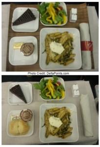 pasta dinner atl-sfo 1st class delta points blog