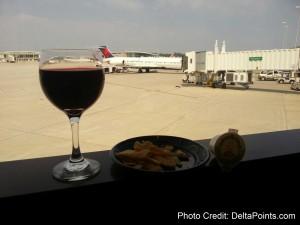 wine in skyclub mke before mileage run delta points blog