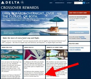 delta landing page crossover rewareds with spg delta points blog