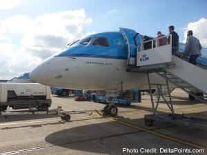 klm regioanal jet amsterdam to gothenburg delta points blog 1
