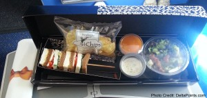 lunch klm regional jet amsterdam to gothenburg