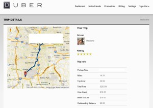 my first uber ride