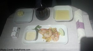 prawns business class 767-300 atlanta to europe delta points blog