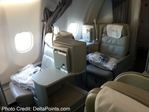 Alitalia Magnifica Class Business seat review delta points blog (8)