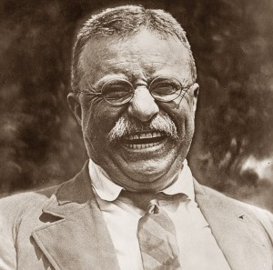 Roosevelt laughing