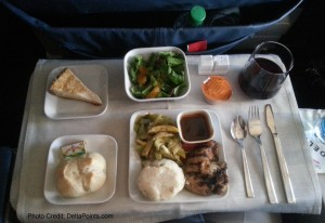 dinner msp-lax 1st class delta airlines delta points blog mileage run