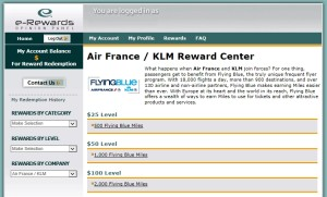 klm erewards points