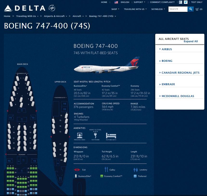 Delta 747 400 Seating Brokeasshome Com