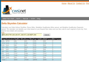 results with cwsi-net deltamr2013 delta points blog with mj on travel
