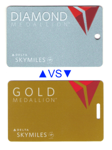 diamond medallion vs gold medallion on award seats