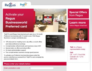 free regus membership from tripit pro