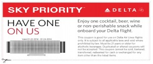 delta boarding pass hoou have one on us drink snack coupon for elite medallion flyers delta points blog