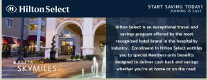 HiltonSelect and skymiles