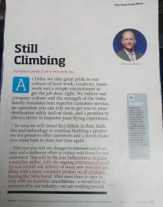 delta CEO Richard Anderson talks in FEB SKY Magazine about new jets replacing 50 seats crjs