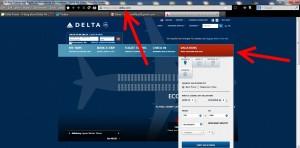 delta vacations  on delta-com web site