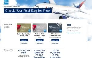 when you click the Delta Points link for the Delta AMEX cards - what it should look like