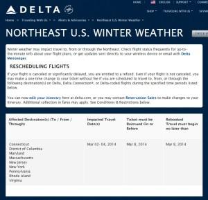 01march northest winter weather waver delta