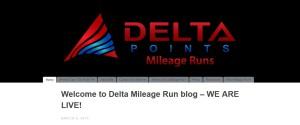 DeltaMileageRun-com home page