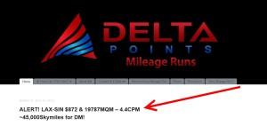 MR deal on DeltaMileagRun-com blog