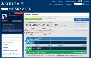 rene delta points showing diamond medallion till 2016 delta-com
