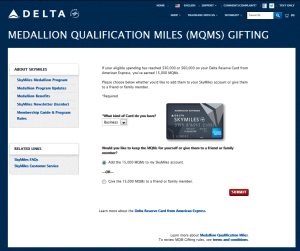 step one to redeem your mqms from your delta amex card