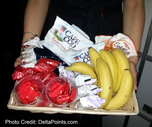 the snack basket 1st class delta points blog