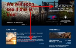 delta-com home page talking about skymiles2015