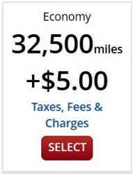 delta showing award ticket for 32500 miles