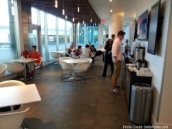 dining area centurion lounge dfw delta points review