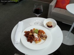 food centurion lounge delta points blog review