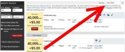 miles search default is best match