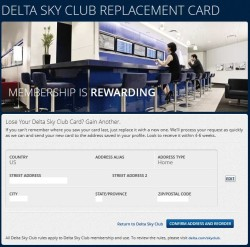 request lost skyclub card