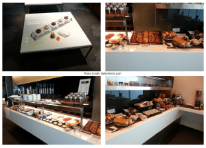 breakfast choices Lufthansa MUC 1st class lounge delta points blog