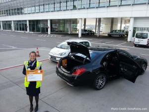 car service from plane Lufthansa MUC 1st class lounge delta points blog (1)