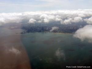 inbound to ORD airport delta points blog