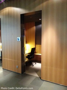 private work area Lufthansa MUC 1st class lounge delta points blog