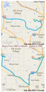 two uber drivers take us very different routes to-from ORD to the westin delta points blog