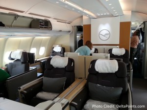 Lufthansa 1st class munich to Toronto A330 DeltaPoints blog review (6)