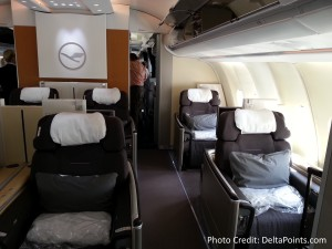 Lufthansa 1st class munich to Toronto A330 DeltaPoints blog review (7)