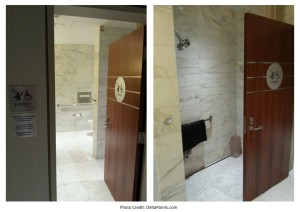 shower Korean Air lounge LAX 2 Delta Points blog