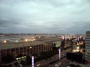 view of LAX from Sheraton Gateway Los Angeles Airport hotel delta points blog