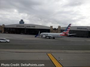 AA hanger LaGuardia lga airport delta points blog